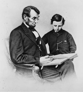 Abraham Lincoln and His son Tod