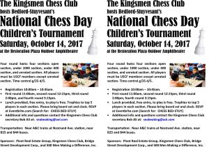 Free Brooklyn Kid's Chess Tournament on National Chess Day