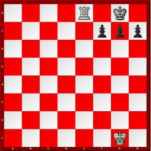 Back Rank Mate WK g1 WR e8 Bk g8 bp h7,g7,f7
