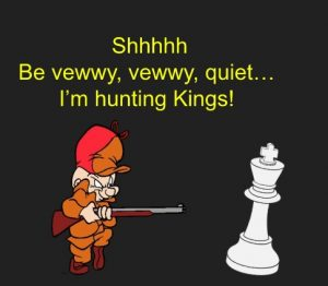 Hunter stalking the King