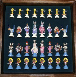 Bugs Bunny Placy chess set