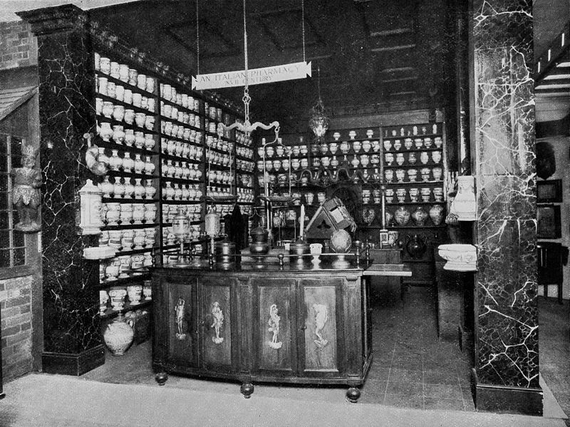 Damiano's Mates: a picture of the Interior of a 16th Century Pharmacy