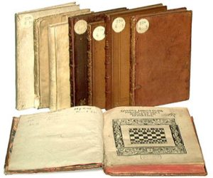 Damiano's Mates: An image of several editions of his book