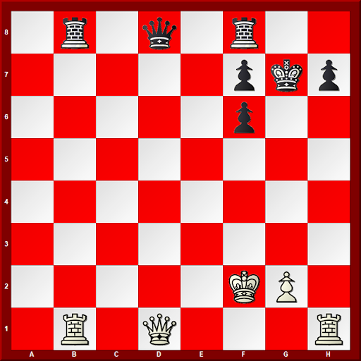Major Piece Checkmates #2 - Diagram -White to move and Mate in 3 moves