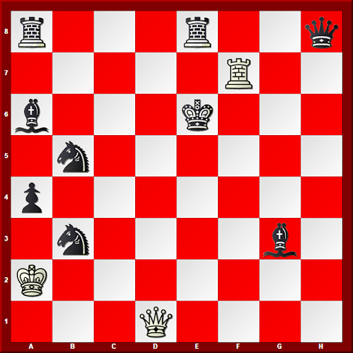 Major Piece Checkmates #3 - Diagram_ White to move and Mate in 6 moves