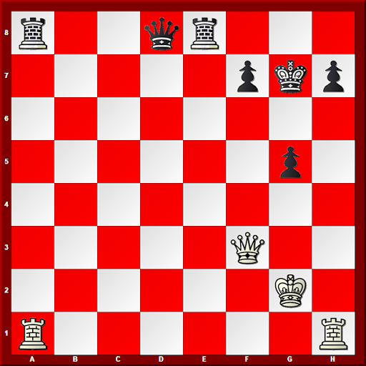 Major Piece Checkmates #4 - Diagram - White to move and Mate in 3 moves