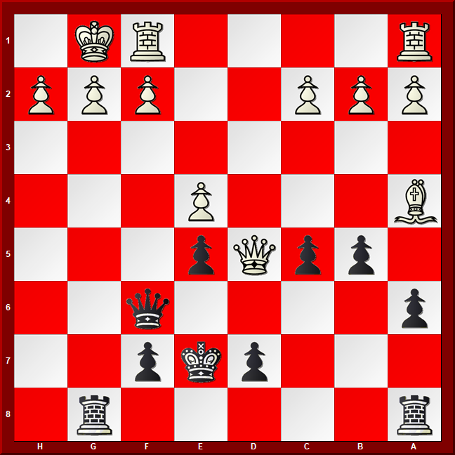 Major Piece Checkmates #5 - Diagram- Black to move and mate in 5