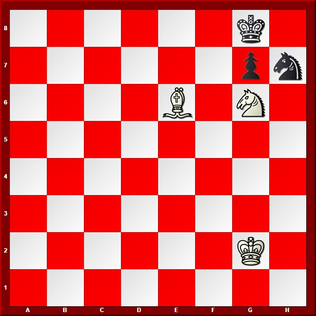 Bishop and Knight Checkmate position #3